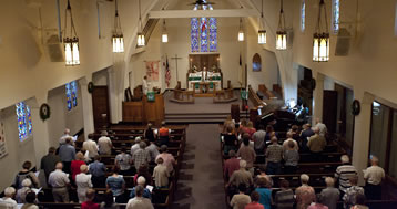Estherville Lutheran Church Sunday service